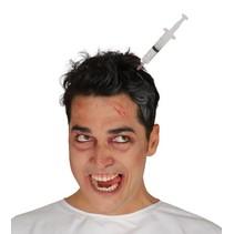 Halloween Haarband Injectiespuit