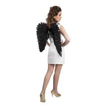 Engelen Vleugels Zwart met glitters 57cm