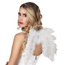 Engelen Vleugels Wit met glitters 48cm