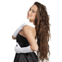 Witte Handschoenen Lang
