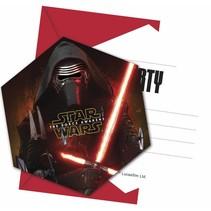 Star Wars The Force Awakens Uitnodigingen 6 stuks
