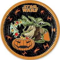 Star Wars Halloween Borden 23cm 8 stuks