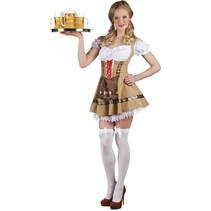 Oktoberfest Jurk Bruin