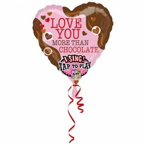 Helium Ballon Hart met geluid 45cm leeg