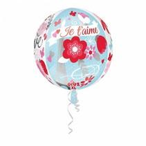 Helium Ballon Rond Je t'aime 40cm leeg