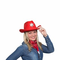Cowboy Sjaal Rood