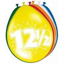 Ballonnen 12,5 Jaar 30cm 8 stuks