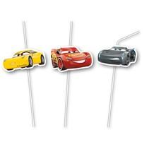 Cars 3 Rietjes 6 stuks