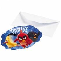 Angry Birds Uitnodigingen 8 stuks