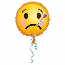 Helium Ballon Beterschap Emoticon 43cm leeg