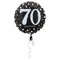 Helium Ballon 70 Jaar Zilver 43cm leeg
