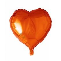 Helium Ballon Hart Oranje 46cm leeg