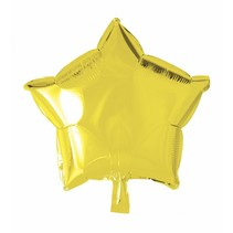 Helium Ballon Ster Geel 46cm leeg