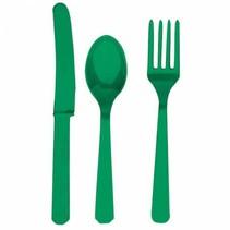 Groen Bestek Plastic 24 delig