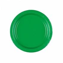 Groene Gebaksbordjes 18cm 8 stuks
