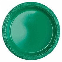 Groene Gebaksbordjes Plastic 18cm 8 stuks