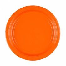 Oranje Borden 23cm 8 stuks