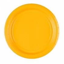 Gele Borden 23cm 8 stuks