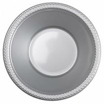 Zilveren Tafelbakjes Plastic 335ml 10 stuks