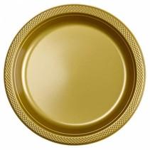 Gouden Borden Plastic 23cm 10 stuks