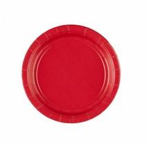 Rode Gebaksbordjes 18cm 8 stuks