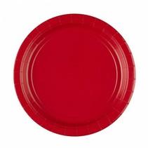 Rode Borden 23cm 8 stuks