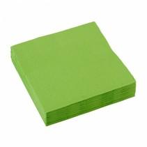 Lime Groene Servetten 25x25cm 20 stuks