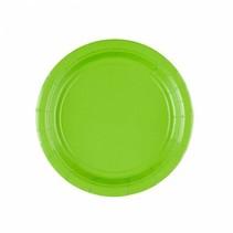 Lime Groene Gebaksbordjes 18cm 8 stuks