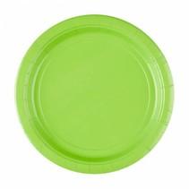 Lime Groene Borden 23cm 8 stuks