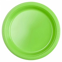 Lime Groene Gebaksbordjes Plastic 18cm 8 stuks
