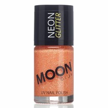 Nagellak Oranje Glitter Neon UV 14ml