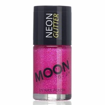 Nagellak Fuchsia Glitter Neon UV 14ml