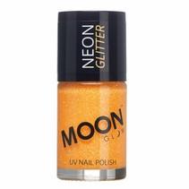 Nagellak Oranje Goud Glitter Neon UV 14ml