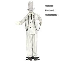 Halloween Pop Geketende Zombie met licht, geluid en beweging 185cm