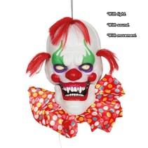 Halloween Wanddecoratie Pratende Clown met licht, geluid en beweging 60cm