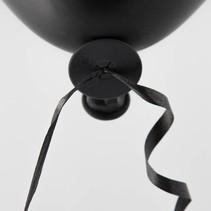 Ballon Snelsluiters Zwart met lint 100 stuks