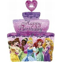Disney Prinsessen Helium Ballon Birthday Cake 71cm leeg