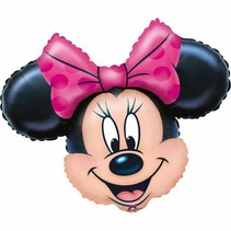 Minnie Mouse Helium Ballon Hoofd XL 71cm leeg
