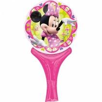 Minnie Mouse Ballon met handvat 30x15cm