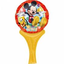 Mickey Mouse Ballon met handvat 30x15cm