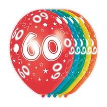 Ballonnen 60 Jaar Metallic 30cm 5 stuks