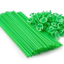 Ballonstokjes Groen met houders 40cm 100 stuks
