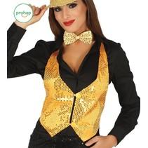 Glitter Gilet Goud Dames