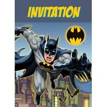 Batman Uitnodigingen 8 stuks