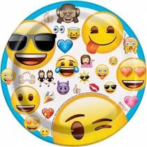 Emoji Gebaksbordjes 20cm 8 stuks