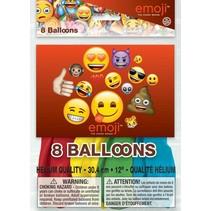 Emoji Ballonnen 30cm 8 stuks