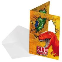 Dinosaurus Uitnodigingen 6 stuks