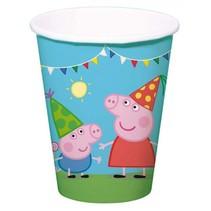 Peppa Pig Bekers 250ml 8 stuks