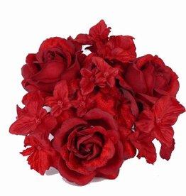 Roos/hortensia kaarsenring Ø 2,5cm Ø 13cm