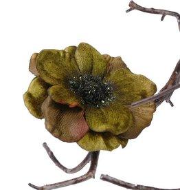 Anemone velvet with clip 11cm